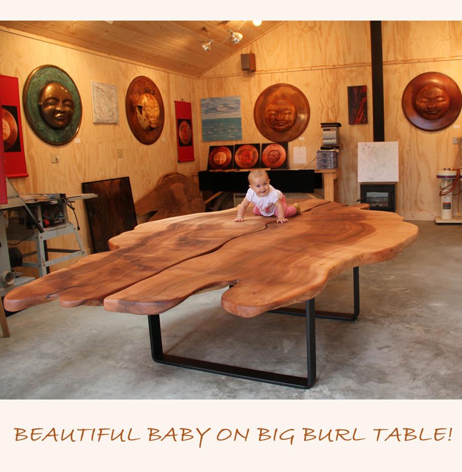 Beautiful Big Burl Table!